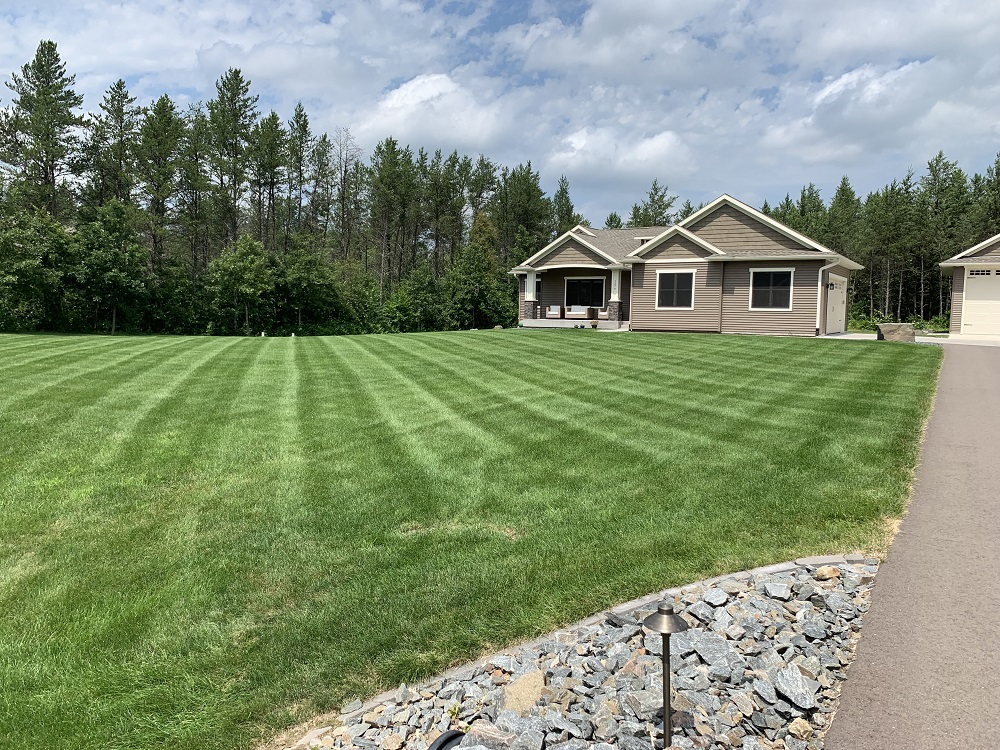Healthy lawn with lawn care in Wisconsin
