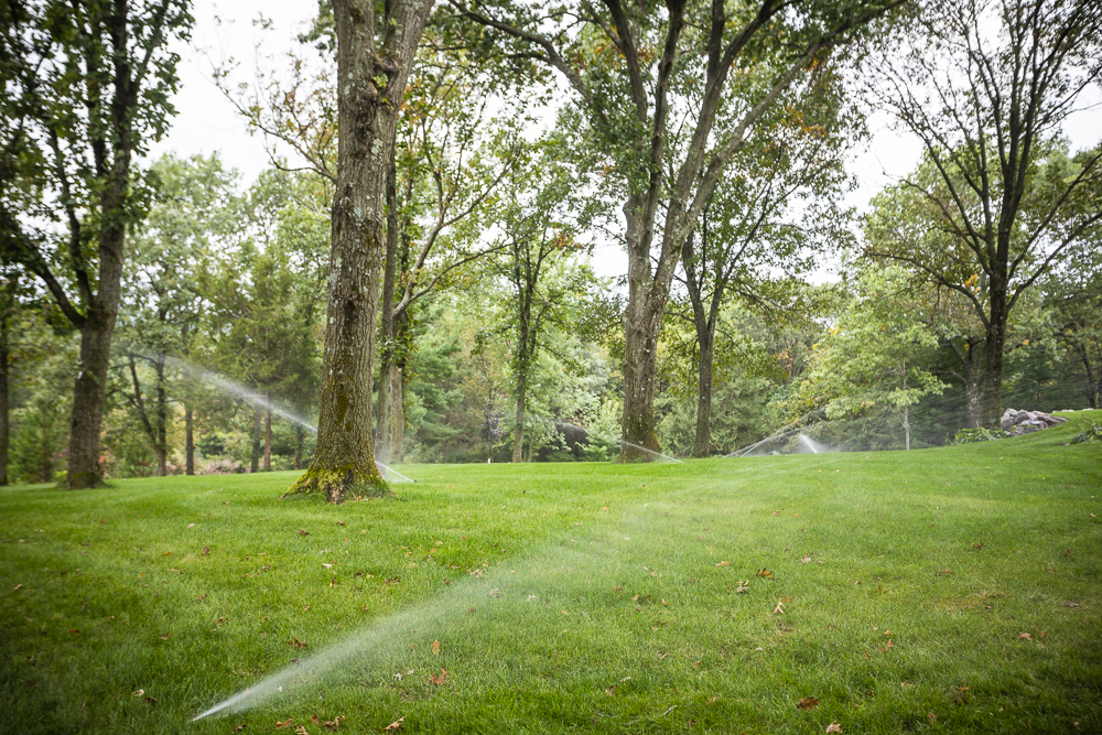 Removing water from an Irrigation system