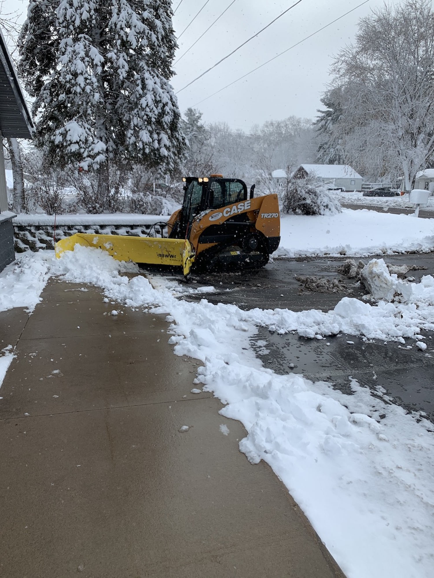 curb to curb snow plowing