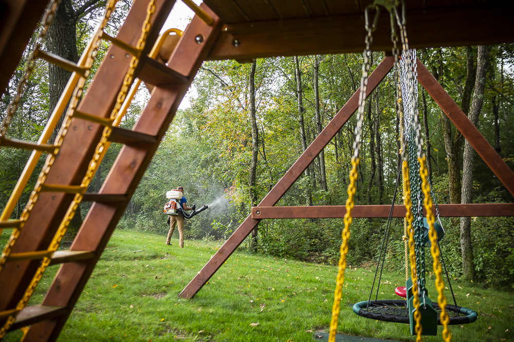 lawn team mosquito control swingset